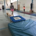 23.06.2017: Anlauf zum Trampolin