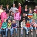 14.06.2014: 4.Wandertag - Gruppe am Edeka-Markt